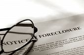 Real Estate Foreclosure Notice And Glasses