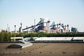 View Of Steel Mill Factory