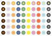 Collection Of Color Buttons