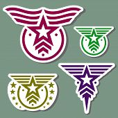Estilo militar logotipo conjunto