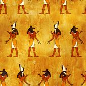 picture of horus  - Seamless background with Egyptian gods images  - JPG