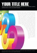 Abstract vector background for brochure and poster with color circles and white place for text