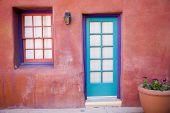 Colorful southwestern architecture in Tucson, Arizona