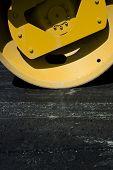 Vertical Closeup Of Steamroller
