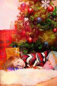 Blond Boy Overslept Santa