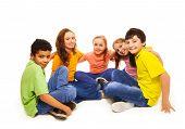 Happy Kids In Semi-circle