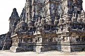 Detail of Prambanan Buddhist temple, Yogyakarta, Java, Indonesia.