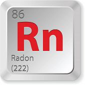 stock photo of proton  - radon element - JPG