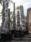 Tiki Statues on Big Island Hawaii