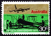 Postage Stamp Australia 1970 Sunbeam Dyak Powered Awro 504
