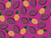 Exotic Fruits Pineapple Seamless Pattern