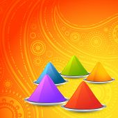 vector holi gulal on orange background
