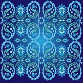 Blue Ottoman Serial Patterns Two