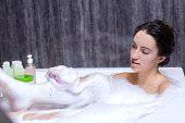 Woman Takes Bath