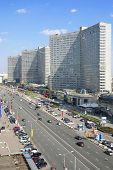 MOSCOW - MAY 10: New Arbat Street at sunny day, on May 10, 2013 in Moscow, Russia. Highway, called t