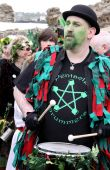 Drummer At Jack In The Green Pagan Festival Hastings Uk