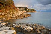 kassiopi headland in corfu greece