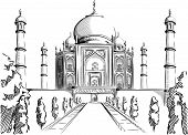 Sketch of India Landmark - Taj Mahal