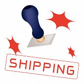 A Rubber Stamp With A Word Shipping