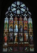 Stained Glass Window In Brussels's Cathedral