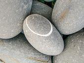 Pebbles On A Beach At Westward Ho!, Devon, England