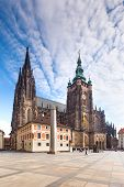 PRAGUE/CZECH REPUBLIC - MAY 9: View on the Cathedral of Saint Vitus, Wenceslaus and Adalbert on Hra