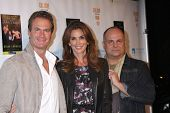 LOS ANGELES - OCT 21:  Rande Gerber, Cindy Crawford, Brian Edwards at the