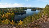 Top View Of The Lake Repovesi