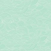 Seamless abstract hand-drawn pattern, waves background. Seamless pattern can be used for wallpaper,