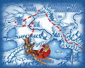 The route of Santa Claus