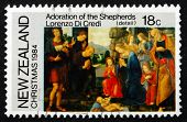 Postage Stamp New Zealand 1984 Adoration Of The Shepherds, By Lo