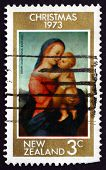 Postage Stamp New Zealand 1973 Tempi Madonna, By Raphael