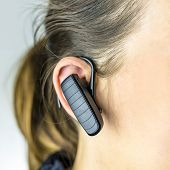 Female Operator With Bluetooth Phone