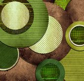 abstract background composition of green and brown texture shapes