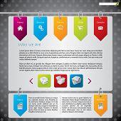 Hanging Labels Web Template Design