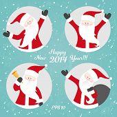 Vector Christmas set with Santa
