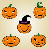Постер, плакат: Halloween Pumpkins