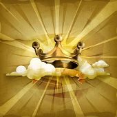 stock photo of medieval  - Gold crown - JPG