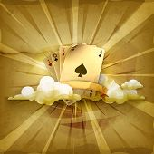 Playing Cards, old style vector background