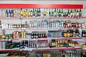 Borovitchi, Russia - August 5: Showcase The Grocery Store In The Russian Village On August 5, 2012 N