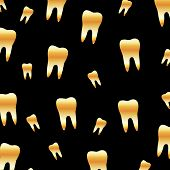 Tooth background for dental artist