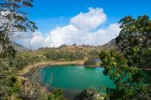 foto of plateau  - Volcanic colorful lake  - JPG