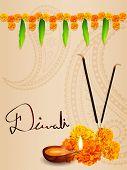 vector beautiful diwali greeting design