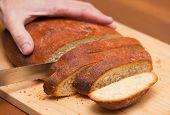 Cutting Freshly Made Bread
