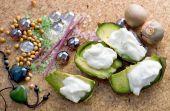 Avocado  Stonefruit Colourful Gem And  Incense