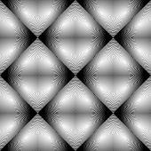 stock photo of parallelogram  - Design seamless monochrome rhombus pattern - JPG