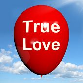 True Love Balloon Represents Lovers And Couples