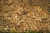 ancient stone fortress wall surface texture