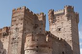 Antique Castle. Towers And Battlement. Medieval. Medina Del Campo. Spain