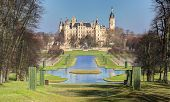 Castle Schwerin in spring time, Germany